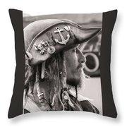 Pirate Profile Throw Pillow