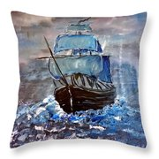 Pirate Ship 1 Throw Pillow
