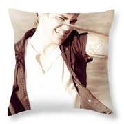 Pirate Sword Fight Throw Pillow