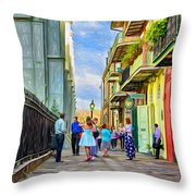 Pirate's Alley Wedding 2 - Paint Throw Pillow