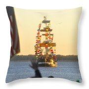 Pirate's Arrival Throw Pillow