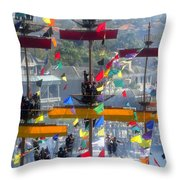 Pirate's In The Rigging Throw Pillow