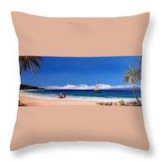 Pirates On The Beach Throw Pillow