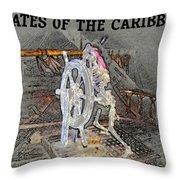 Pirates Skeleton Throw Pillow by David Lee Thompson