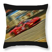 Pirelli World Challenge Olivier Beretta Ferrari 458 Gt3 Italia Throw Pillow