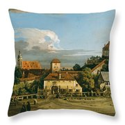 Pirna. The Obertor From The South Throw Pillow