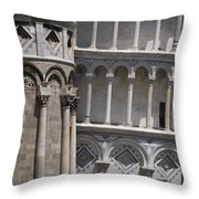Pisa Leaning Tower 4637 Throw Pillow