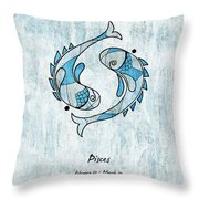 Pisces Artwork Throw Pillow