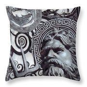 Pisces Poseidon Zodiac Throw Pillow
