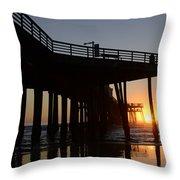 Pismo Beach Pier California 2 Throw Pillow