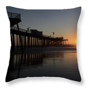 Pismo Beach Pier California 4 Throw Pillow