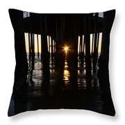 Pismo Beach Pier California 7 Throw Pillow