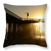 Pismo Beach Pier California 8 Throw Pillow