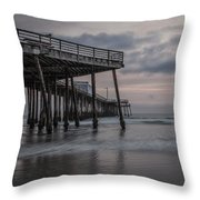 Pismo Beach Pier Throw Pillow