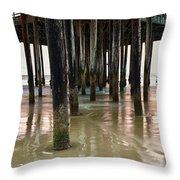 Pismo Beach Pier Throw Pillow