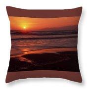 Pismo Beach Sunset Throw Pillow