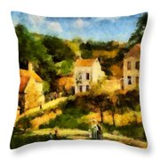Pissaro L,hermitage Throw Pillow