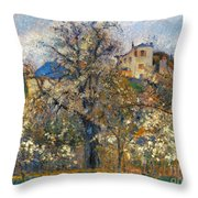Pissarro: Garden, 1877 Throw Pillow