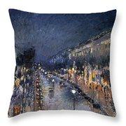 Pissarro: Paris At Night Throw Pillow