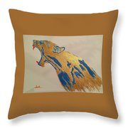Pissed Beast Throw Pillow