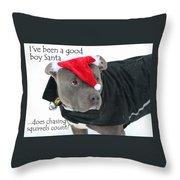 Pit Bull Christmas Two Throw Pillow
