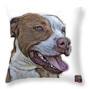 Pit Bull Fractal Pop Art - 7773 - F - Wb Throw Pillow