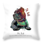 Pit Bull Pop Art Throw Pillow