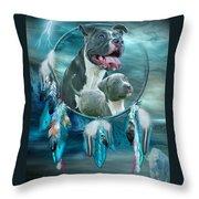 Pit Bulls - Rez Dog Throw Pillow