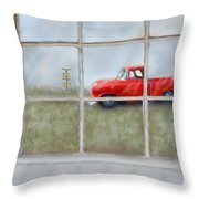 Pit Road--fire And Ice  Throw Pillow