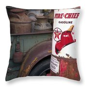 Pit Stop Throw Pillow