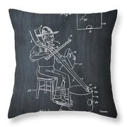 Pitch Fork Fiddle And Drum Patent 1936 - Chalk Throw Pillow