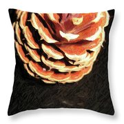 Pitch Pine Cone Throw Pillow