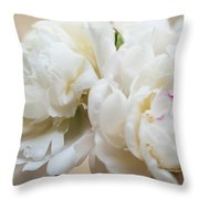 Pitcher Of Peonies Throw Pillow
