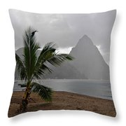 Pitons - St. Lucia Throw Pillow