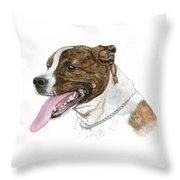 Pittbull Dog Throw Pillow
