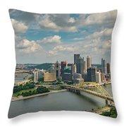 Pittsburg Skyline Throw Pillow