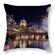 Pittsburgh 1  Throw Pillow by Emmanuel Panagiotakis