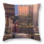 Pittsburgh 19  Throw Pillow by Emmanuel Panagiotakis