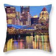 Pittsburgh 2 Throw Pillow by Emmanuel Panagiotakis