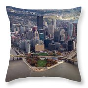 Pittsburgh 8 In Color Throw Pillow by Emmanuel Panagiotakis