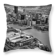 Pittsburgh 9 Throw Pillow by Emmanuel Panagiotakis