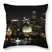 Pittsburgh At Night Throw Pillow