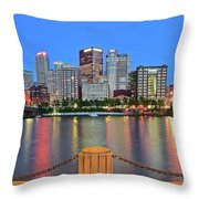 Pittsburgh At Waters Edge Throw Pillow