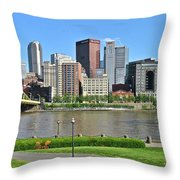 Pittsburgh From Just Outside Pnc Park Throw Pillow