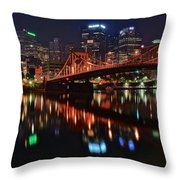 Pittsburgh Lights Throw Pillow