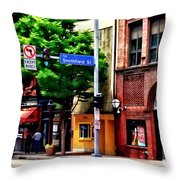 Pittsburgh Pa - Liberty Ave And Smithfield Street Throw Pillow