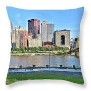 Pittsburgh Pa Panoramic Throw Pillow