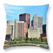 Pittsburgh Panorama June 2017 Throw Pillow