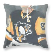 Pittsburgh Penguins Sidney Crosby 3 Throw Pillow