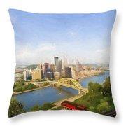 Pittsburgh Pennsylvania Incline Throw Pillow